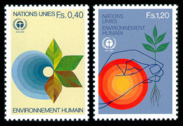 United Nations Geneva, 1982, 10th Anniversary Of The Conference On The Protection Of The Environment, Michel #105-106... - Unclassified