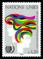 United Nations Geneva, 1984, International Youth Year, IYY, Michel #126, Scott #128, MNH, Perforated Stamp - Unclassified