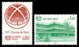 United Nations Geneva, 1985, International Labor Organization, ILO, Michel #127-128, Scott #129-130, MNH, Perforated Set - Unclassified