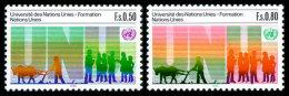 United Nations Geneva, 1985, 10th Anniversary Of The United Nations University, Michel #129-130, Scott #131-132, MNH,... - Unclassified