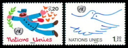 United Nations Geneva, 1985, Definitives, Michel #131-132, Scott #133-134, MNH, Perforated Set - Unclassified