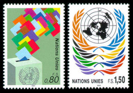 United Nations Geneva, 1991, Definitives, Michel #200-201, Scott #201-202, MNH, Perforated Set - Unclassified