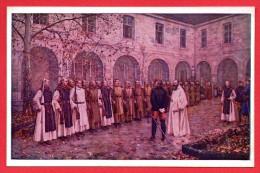 Forges. Abbaye De Scourmont. Le Général Alfred Chanzy Passe En Revue Les Moines Trappistes Armés En 1870 - Chimay