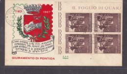 Italy : 1967, GIURAMENTO DI PONTIDA, First Day Cover, - 6. 1946-.. Republic