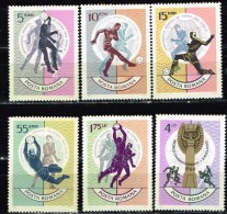 Romania 1966 Sports Football Soccer England World Championship Stamps MNH Michel 2493-2498 - 1948-.... Republics