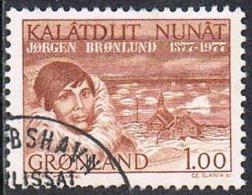 Greenland SG97 1977 Birth Centenary Of Jörgen Brönlund 1k Good/fine Used - Used Stamps