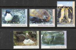 Australian Antarctic AAT 90/94 ** Faune Antarctique (machots, Phoques) - Unused Stamps