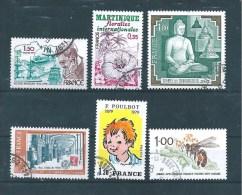 France  Timbres De 1979  N°2034 A 2039  Oblitérés - France