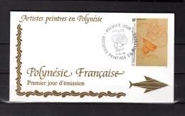 """Enveloppe 1er Jour De 1993 """" ARTISTES PEINTRES EN POLYNESIE : P.E. VICTOR """". N° YT 448. Parfait. état. FDC"""