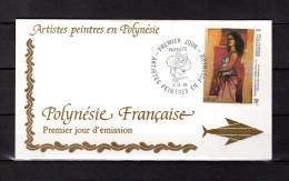 """Enveloppe 1er Jour De 1993 """" ARTISTES PEINTRES EN POLYNESIE : A. MORERE """". N° YT 446. Parfait. état. FDC"""