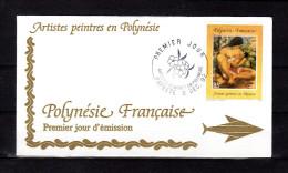 "Enveloppe 1er Jour De 1992 "" ARTISTES PEINTRES EN POLYNESIE : O. MORILLOT "". N° YT 425. Parfait. état. FDC"