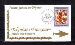 """Enveloppe 1er Jour De 1992 """" ARTISTES PEINTRES EN POLYNESIE : P. KIENLEN """". N° YT 424. Parfait. état. FDC"""