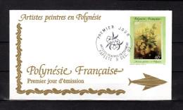 """Enveloppe 1er Jour De 1992 """" ARTISTES PEINTRES EN POLYNESIE : USCHI """". N° YT 423. Parfait. état. FDC"""