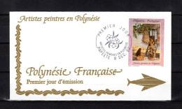 """Enveloppe 1er Jour De 1992 """" ARTISTES PEINTRES EN POLYNESIE : E. LUX """". N° YT 422. Parfait. état. FDC"""