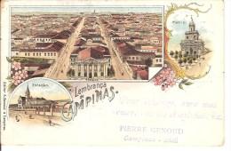 Antica Cartolina Di Brasile Brasil  Lembranca De Campinas 2 Scan Per PARIS Impresso - Non Classés