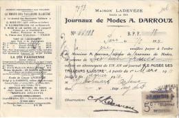 RECU    MAISON LADEVEZE   JOURNAUX DE MODES A. DARROUX   1911 - France