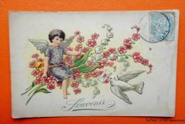 Souvenir  - Ange, Colombe, Lettre , Fleurs  -  Carte  En Relief - Non Classificati