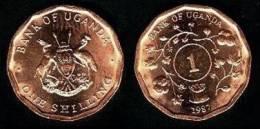 Uganda 1 Shilling 1.987 Cobre Acero KM#27 SC/UNC   T-DL-10.185 - Uganda