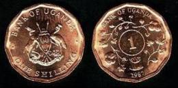 Uganda 1 Shilling 1.987 Cobre Acero KM#27 SC/UNC   T-DL-10.185 - Oeganda