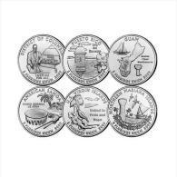 Quarti Di Dollaro 2009 (6 Pc.) DENVER - D. Columbia Puerto Rico Guam Am. Samoa US Virgin Island N. Mariana Island - Émissions Fédérales