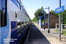 Gare De Mouroux , Seine-et-Marne , Rame Z 20500 - Une Photo Reproduit Carte Postale  10x15 Cm. - Bahnhöfe Mit Zügen