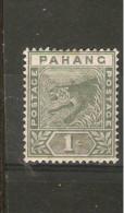 MALAYA PAHANG 1895 1c SG 11 MOUNTED MINT  Cat £4.25 - Pahang
