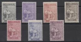 Belgique - YT N° 377 à 383 - Neufs * - MH - Cote: 240,00 € - Nuovi