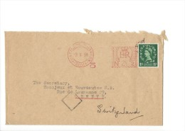 12751 - Lettre Cover Portslade Brighthon Pour Genève 03.10.1954 - 1952-.... (Elizabeth II)