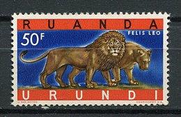 (cl 10 - P1) Ruanda Urundi ** N° 216B (ref. Michel Au Dos) -   Lions - - 1916-22: Neufs