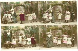 Theme Jeux D Enfants Religieuse A Cornet Danse En Rond Colin Maillard Corde A Sauter Quatre Coins Poupee Ancienne - Ajedrez