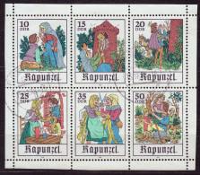 """Kleinbogen,Mi-Nr 2382/87, """" Rapunzel """",  Mit LUXUS-Orts-Stempel Freiberg, Perfekt  !! Los  8.8.-41 - DDR"""