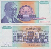 YUGOSLAVIA  500.000.000  Dinara  1993  UNC , P-134  ZA  Replacement  RRR - Joegoslavië