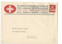 12764 - Lettre Office Suisse D'Expansion Commerciale Zürich Pour Basel 28.01.1929 - Suisse