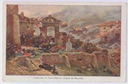 19 CIMETIERE DE ST PRIVAT D'APRES DE NEUVILLE GUERRE 1870 - Otras Guerras