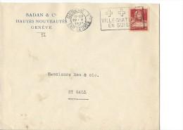 12772- Lettre Badan & Cie Hautes Nouveautés Genève Pour St-Gall 22.05.1931 + Vignette Fête Des Costumes Genève - Storia Postale