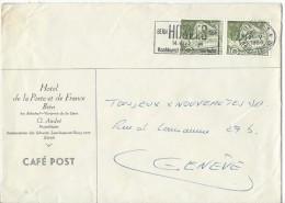 12773- Lettre Hôtel De La Poste Et De France Bern Pour Genève 24.05.1954 - Switzerland