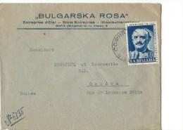 12774- Lettre Cover Bulgarska Rosa State Entreprise Sofia Pour Genève - 1945-59 République Populaire