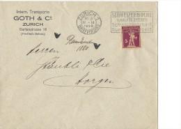 12776- Lettre Goth & Cie Zürich Pour Horgen 11.09.1928 - Suisse