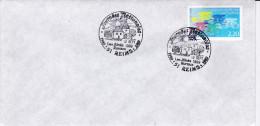 Enveloppe Bureau Temporaire Reims (51) 12 Septembre 1989. - Postmark Collection (Covers)