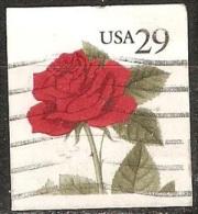 États Unis - 1993 - Rose Rouge - YT 2186 Oblitéré - Rose
