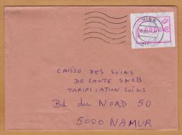 Enveloppe Cover Brief Vignette Visé à Namur - Postage Labels