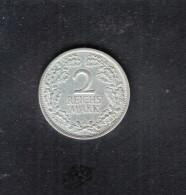 Dt. Reich 2 Mark 1925 - [ 3] 1918-1933 : Weimar Republic