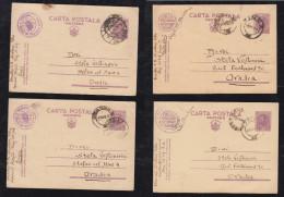 Rumänien Romania 1939-40 4 Military Stationery Card 1L Used - Cartas