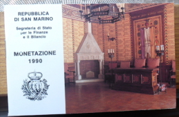 LIBRETTO DELLE MONETE DI SAN MARINO DEL 1990 - SOLO LIBRETTO NON CONTENITORE E MONETE - - Materiale