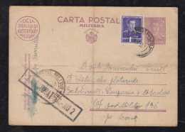 Rumänien Romania 1943 Uprated Military Stationery Card 2L Used - Cartas