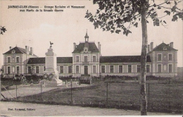 JAUNAY CLAN (VIENNE) GROUPE SCOLAIRE ET MONUMENT AUX MORTS DE LA GRANDE GUERRE - Autres Communes