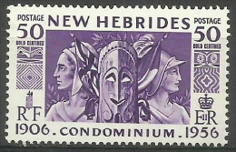 New Hebrides - 1956 Condominium Anniversary 50c MNH  Sc 81 - English Legend