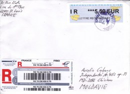 France   To Moldova ; 2015  ;  Used Cover - France