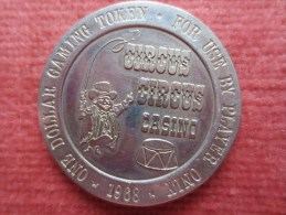JETON CASINO CIRCUS CIRCUS 1968 - Casino