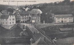 DIEZ A. D. LAHN / LAHNBRÜCKE MIT SACHFENHAUFEN - Diez